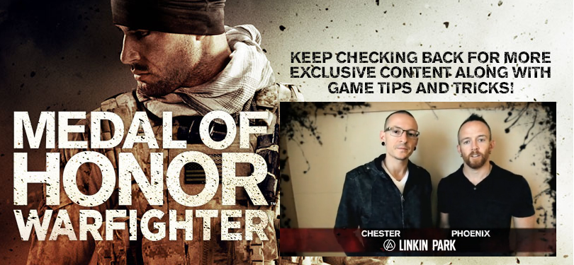Linkin Park teams up with EA on Medal Of Honor Warfighter.