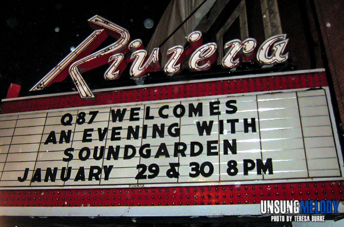 Been Away Too Long. Soundgarden at the Riviera Theater in Chicago.