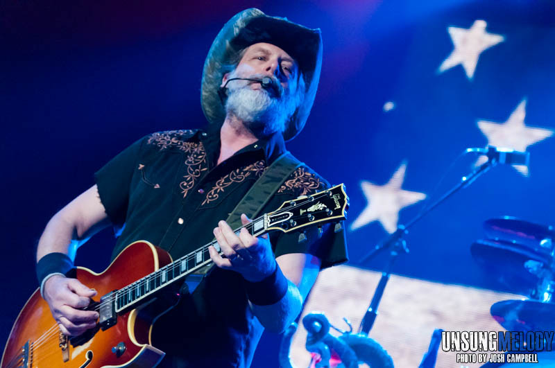 Ted Nugent at the Ford Center in Evansville, Indiana.