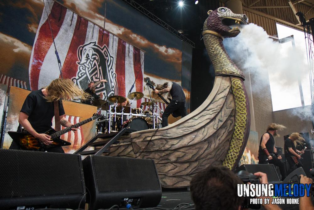 Mayhem Festival 2013: Amon Amarth at the Klipsch Music Center in Noblesville, IN