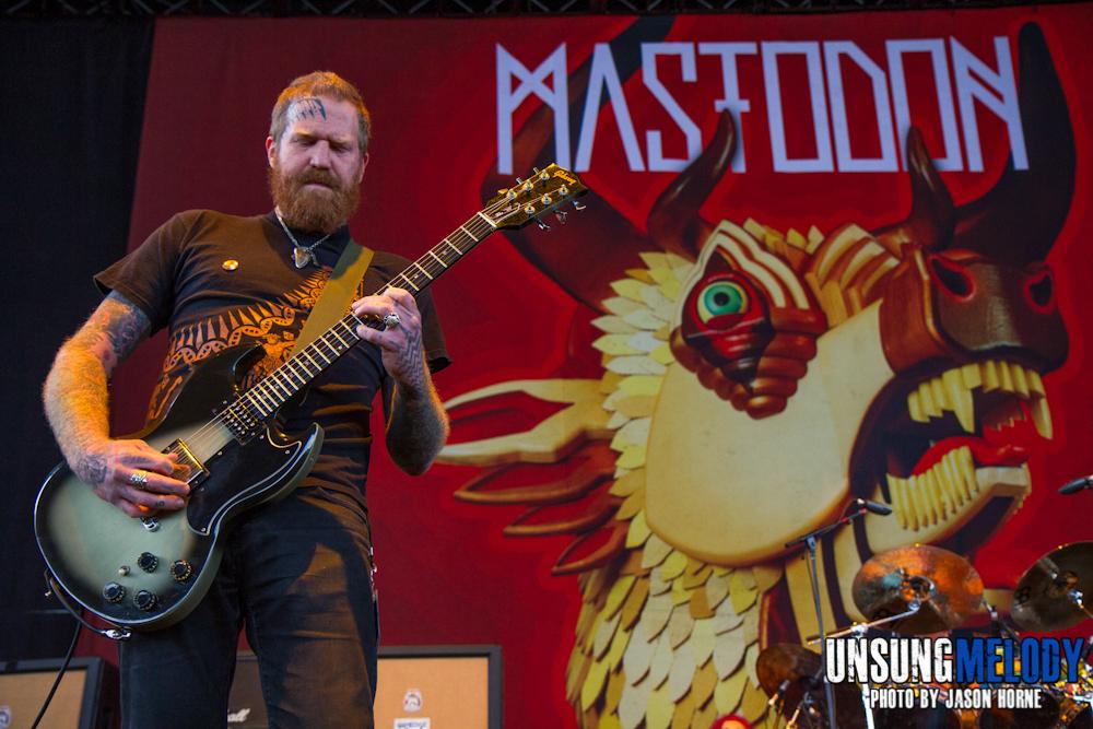Mayhem Festival 2013: Mastodon at the Klipsch Music Center in Noblesville, IN