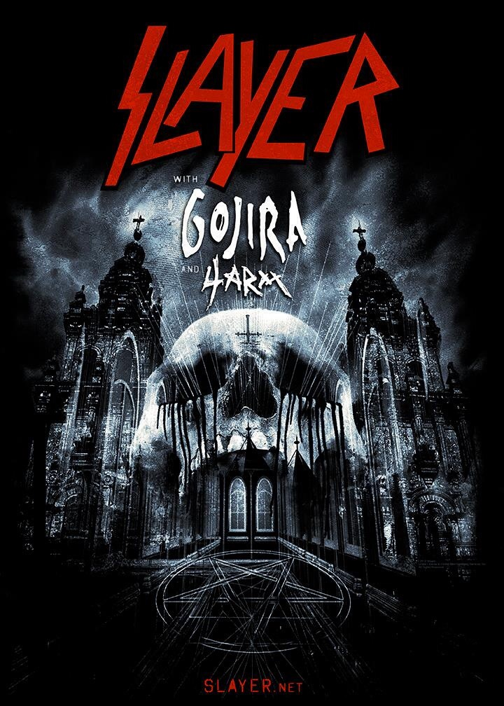"""Slayer Announces """"Old School Slayer Sets"""" For All Tour Dates With Gojira And Expands L.A. And N.Y. Concerts To Five-Week North American Fall Tour"""