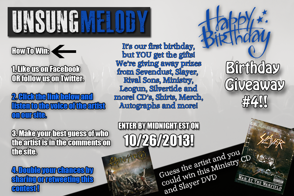 Unsung Melody's Birthday Giveaway #4!!