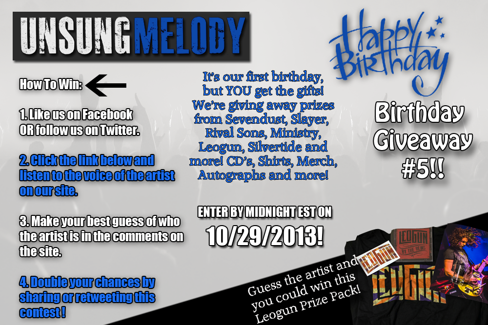 Unsung Melody's Birthday Giveaway #5!!