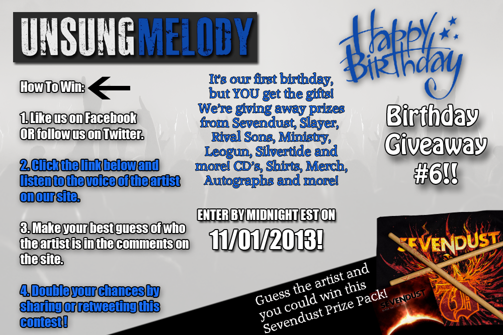 Unsung Melody's Birthday Giveaway #6!!