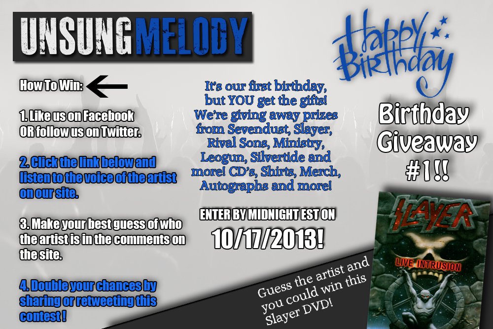 Unsung Melody's Birthday Giveaway #1!!