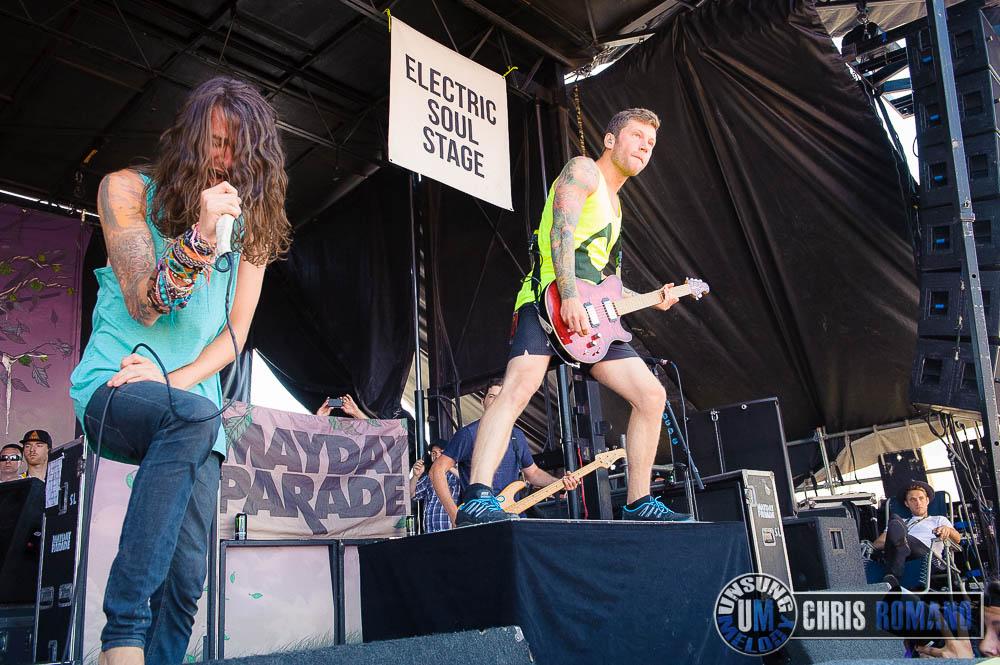 Mayday Parade at Warped Tour 2014