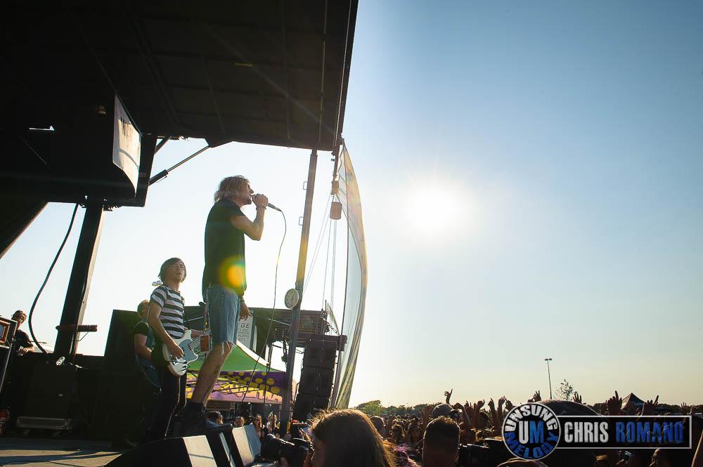Vans Warped Tour 2014: The Maine at the Vans Warped Tour in Jones Beach, NY
