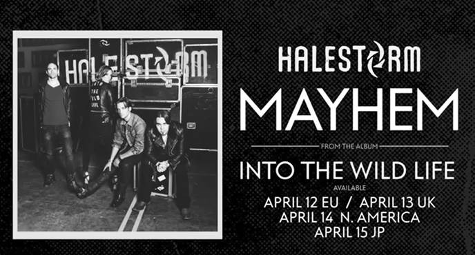 "Halestorm Releases New Song ""MAYHEM"""